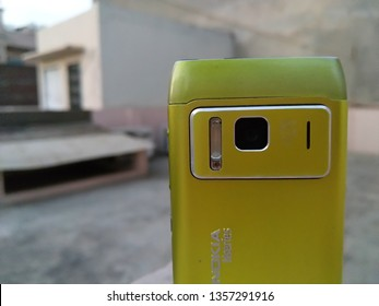 New Delhi, Delhi/India - mar 29, 2019: Nokia N8. Old Nokia limited smartphone, phone. One of Nokia's most popular phones. Hmd global Home of Nokia smartphone. Symbian OS. camera with xenon flash.