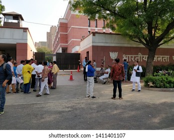 new Delhi/ India - 05 30 19 : the situation outside bharatiya Janata party BJP office on the oath swearing day of prime minister
