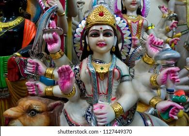 New Delhi, India, 08/06/2006:Representation of the goddess Kali