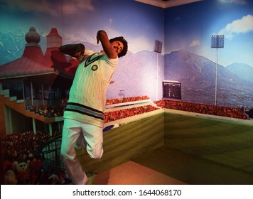 New Delhi - India 26th Nov 2019  Indian Cricketer Kapil Dev Wax Statue at Madame Tussaud's in New Delhi