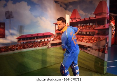 New Delhi - India 26th Nov 2019  Virat Kohli Indian Cricketer wax idol or figure at Madame Tussaud's museum in New Delhi