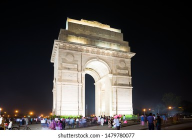 New Delhi, India - April 10, 2015: The India Gate (originally called the All India War Memorial)