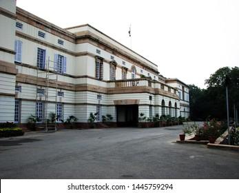 New Delhi, India, December 07 2006: Teen Murti Bhavan, former residence of the first Prime Minister of India, Jawaharlal Nehru