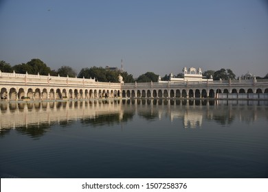 New Delhi, India - December 8, 2017 : Gurudwara Bangla Sahib sikh temple