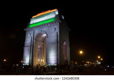 new Delhi  the India gate  night image