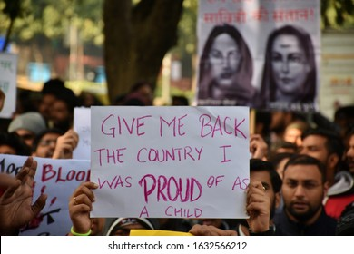 New Delhi, India - January 2020 : Shaheen bagh demonstration against anti muslim controversial Citizenship Amendment Bill CAB, CAA, NRC, NPR. Muslim womens protest against government policies in India