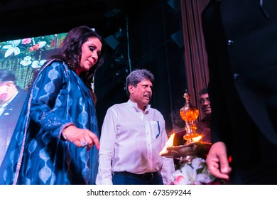 New Delhi, India, July 08, 2017 -Legendary cricketer Kapil Dev inaugurating VLCC's 16th Annual Convocation today morning.