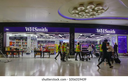 New Delhi, India - Nov 13, 2017. Duty-Free shops at Indira Gandhi Airport in New Delhi, India. The airport handled over 57.7 million passengers in fiscal year 2016-17.