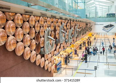 NEW DELHI, INDIA - NOVEMBER 03, 2015: Indira Gandhi International Airport serves as the primary civilian aviation hub for the National Capital Region of Delhi, India.