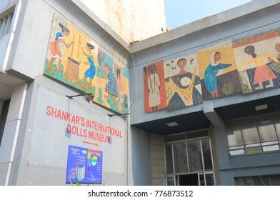 NEW DELHI INDIA - NOVEMBER 28, 2017: Shankars International Dolls Museum in New Delhi.