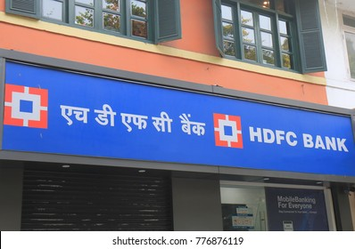 NEW DELHI INDIA - NOVEMBER 28, 2017: HDFC bank India. HDFC bank is India's largest private sector lender by assets