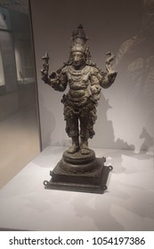 NEW DELHI, INDIA - SEP 10, 2017 - Devi goddess, 13th century,  National Museum, New Delhi, India
