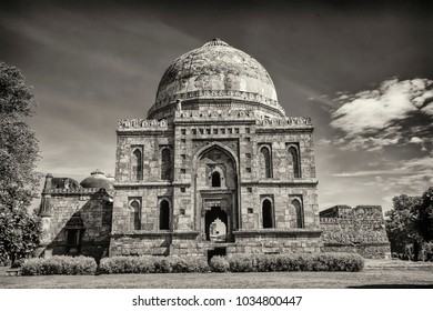 New Delhi, India- September 01, 2014-A View Of Bara Gumbad In Lodhi Garden