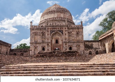 New Delhi, India- September 01, 2014 A View Of Bara Gumbad In Lodhi Garden