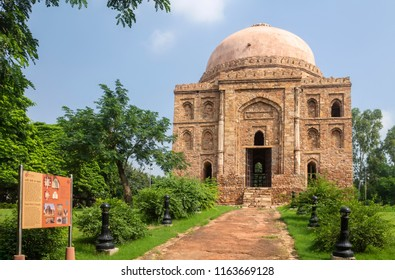 New Delhi , India- September 12, 2014 A View Of Dadi-Poti's Tombs
