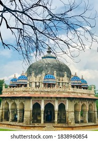 New Delhi, India - September 29, 2019: The tomb of the noble Isa Khan Niazi located in the Humayun's Tomb complex in Delhi, India.