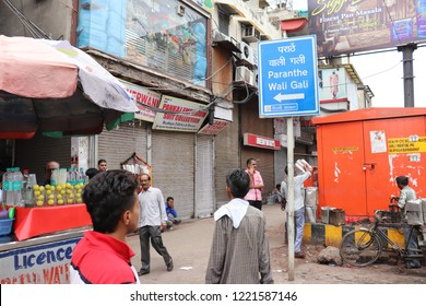 New Delhi /india/15/8/18 Gali Paranthe Wali or Paranthe wali Gali is the name of a narrow street in the Chandni Chowk area of Delhi, India