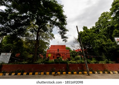 New Delhi, July, 11, 2020: View of St. Thomas Church in central Delhi.