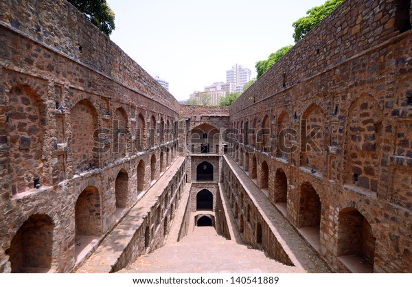 NEW DELHI - MAY 19: Agrasen ki Baoli on May 19, 2013 in New Delhi. Agrasen ki Baoli is a step well and is believed it was built during the Mahabharat epic era and rebuilt in the fourteenth century.