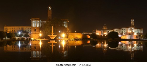 New Delhi, Presidential palace in the night