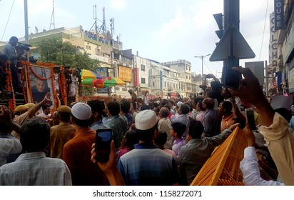 NEW DELHI,INDIA,17 AUGUST 2018 AT 3:20 PM-Huge crowd in the funeral of Former Prime Minister of India and senior leader of the bjp Atal Bihari Bajpai