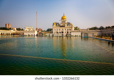 NEW DELHI-INDIA-FEB 6,2019-Hugh bathing pool of religious Temple