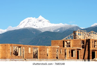 A new development near Whistler, BC, site of the 2010 winter Olympic games.