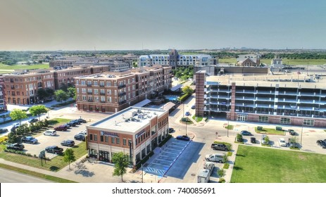 New Downtown Frisco Texas from the air
