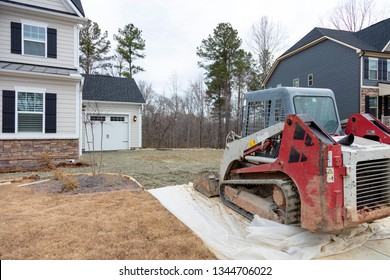 New driveway repair and construction for a new house