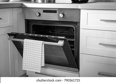 New electric oven in kitchen