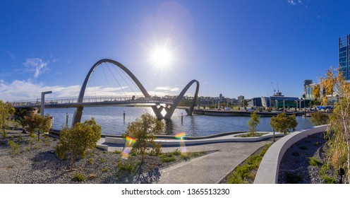 The new Elizabeth Quay waterfront park in Perth Australia looks fantastic. Located downtown where Perth's city meets the Swan River.