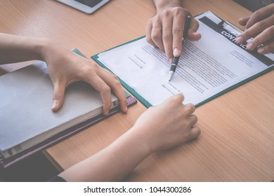 New Employer have been invited to sign work contract after successful job interview