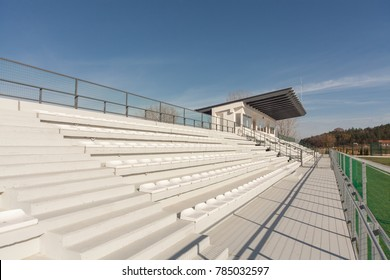 New empty tribunes on a soccer (football) stadium