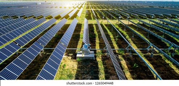 New energy solar energy in sunny day