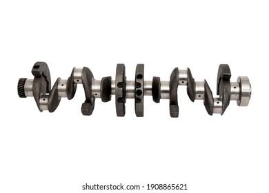 New engine crankshaft. Spare part.
