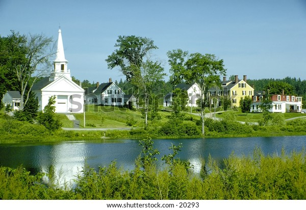 New England church and country side
