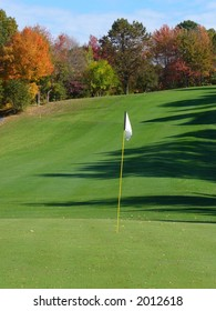 New England Golf Course Fall Foliage