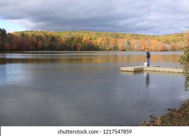 New England Lake in the fall