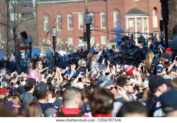 23dd979b New England Patriots 53th Super Bowl Stock Photo (Edit Now) 1306787146