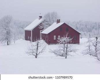 New England winter scene from Londonderry, New Hampshire.
