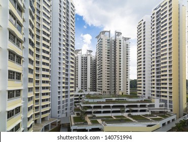 A new estate with carpark at the center- Singapore