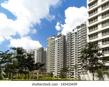 A new estate with neighborhood facilities car park at the center- Singapore