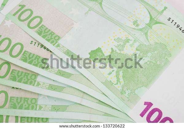 New euro banknotes as a background, close-up