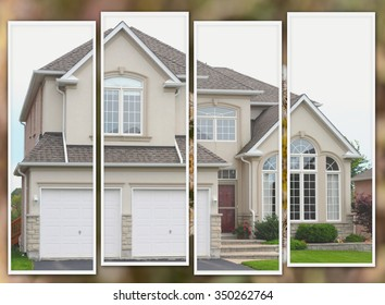 New family house in faux pas photo collage