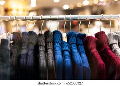 new fashion in modern shopping mall