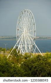 "A new ferris wheel in the park ""Baku"" in Volgograd."