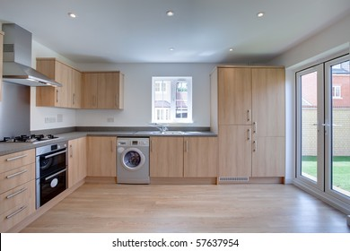 New fitted kitchen with built in appliances