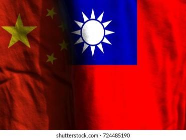 New flags. China and Taiwan