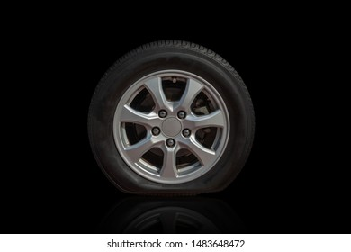 New flat tire tires, safety separated from the background, cliping part