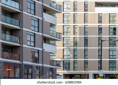 New flats in Poplar, East London